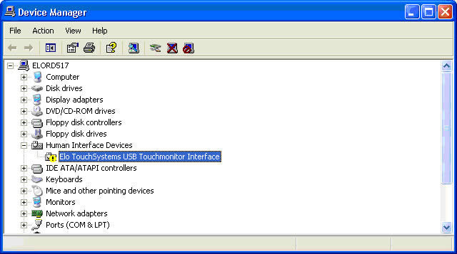 elo touch drivers windows 2000