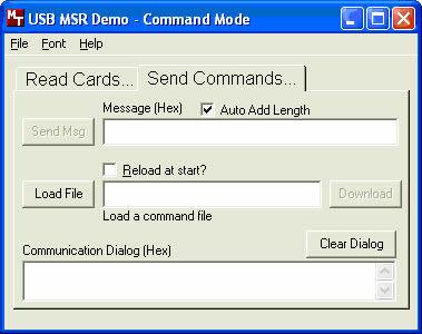 USB MSR Demo